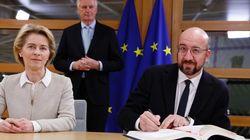 Los líderes de la UE firman el acuerdo del 'Brexit' a falta de su ratificación por la