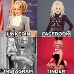 4 photos de profil pour 4 réseaux sociaux, le nouveau mème qui rend folles les