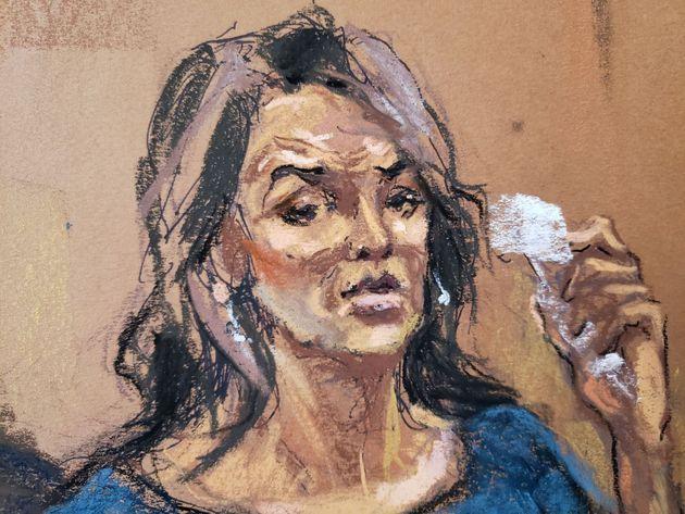 Recreación del juicio durante el testimonio de Annabella