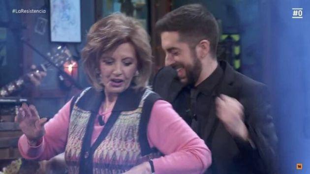 María Teresa Campos, bailando con David Broncano en 'La
