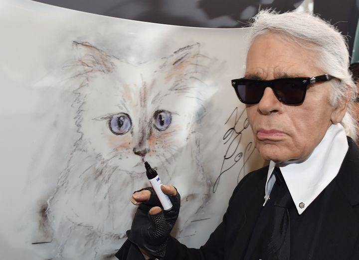 Ο Καρλ Λάγκερφελντ και η γάτα του, Choupette.