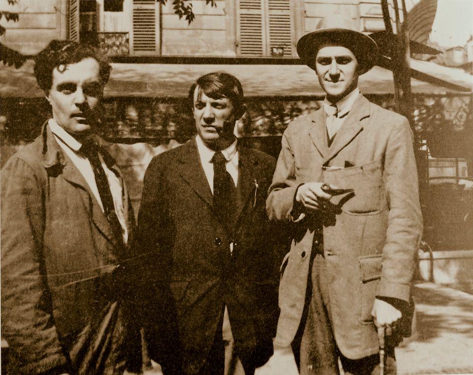 Aπό τα αριστερά Amedeo Modigliani, Picasso, και...