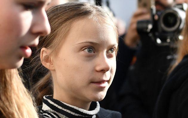 Greta Thunberg, ici ce 24 janvier lors d'une manifestation à Davos, estime que les revendications...