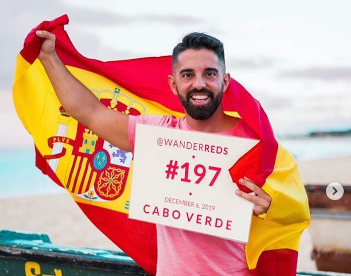Álvaro Rojas, el español de 31 años que ha visitado los 197 países del mundo.