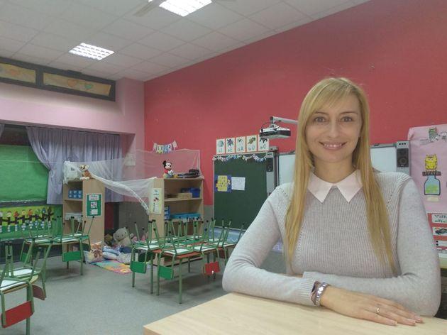 La profesora ganadora en la categoría Infantil, Patricia del
