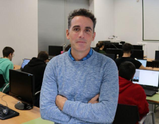 El profesor ganador de la categoría de Formación Profesional, Sergio