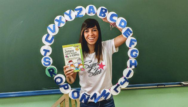 La profesora ganadora de la categoría de Primaria, Lourdes