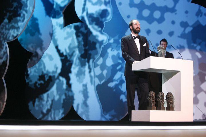 Jaime Rosales, al recoger el Goya por 'La soledad' en 2008.