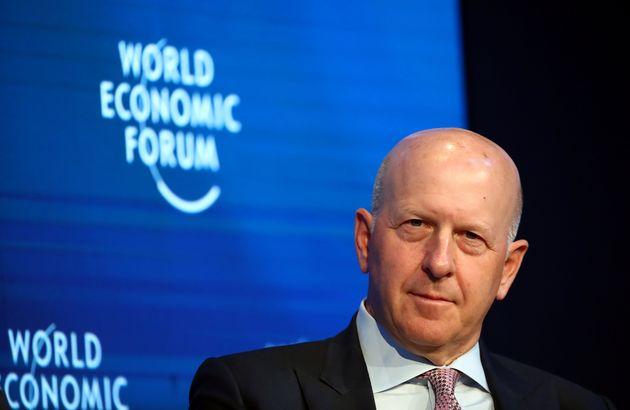Presidente do Goldman Sachs, David Solomon, participa de uma sessão na reunião anual do...