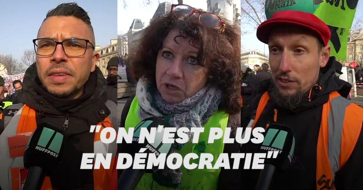 Macron leur suggère d'essayez la dictature, ces manifestants lui répondent