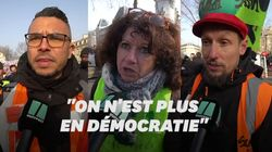 Ces manifestants répondent à Macron qui leur suggère de tester la