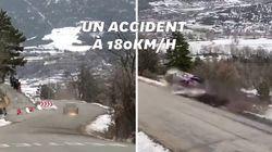 Au Rallye de Monte-Carlo, cette sortie de route à très vive allure n'a fait aucun