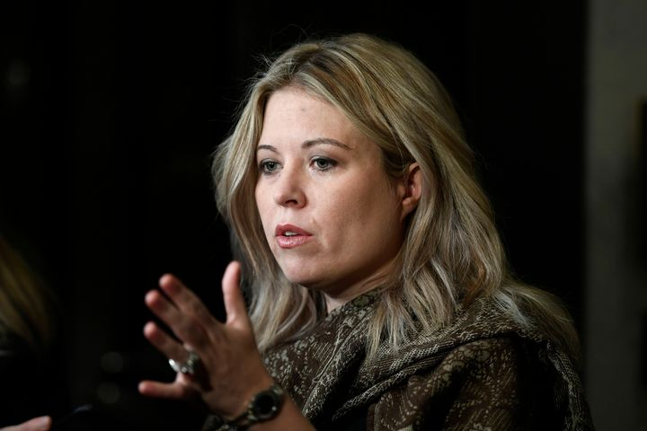 Conservative MP Michelle Rempel Garner speaks to reporters as she arrives for a Conservative caucus retreat on Parliament Hill in Ottaw on Jan. 24, 2020.