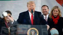 Trumpf Dreht Den Marsch Für Das Leben In Einer Wahlkampfveranstaltung