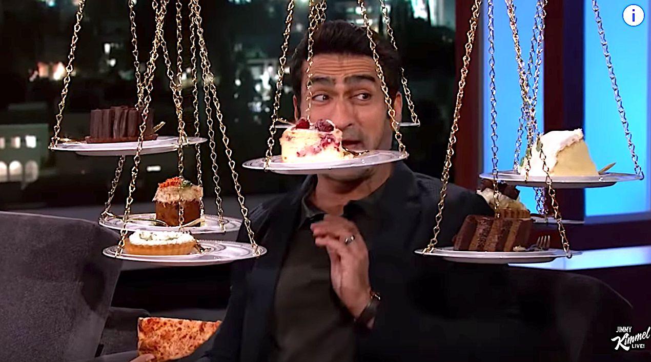 WATCH: Kumail Nanjiani Eats Pizza And Dessert ...