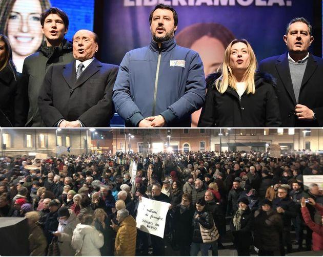 I leader del centrodestra in piazza a Ravenna - la piazza delle