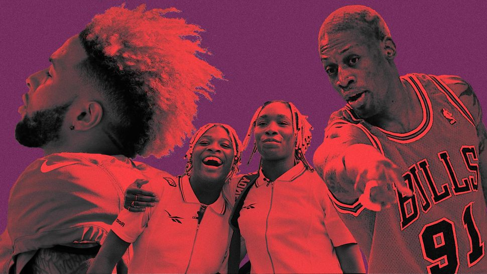 From the Williams sisters to Dennis Rodman, hair helped make these athletes icons.