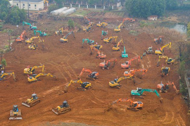 武漢に約1週間で新病院を建設へ。新型コロナウイルス患者の治療で(画像集)