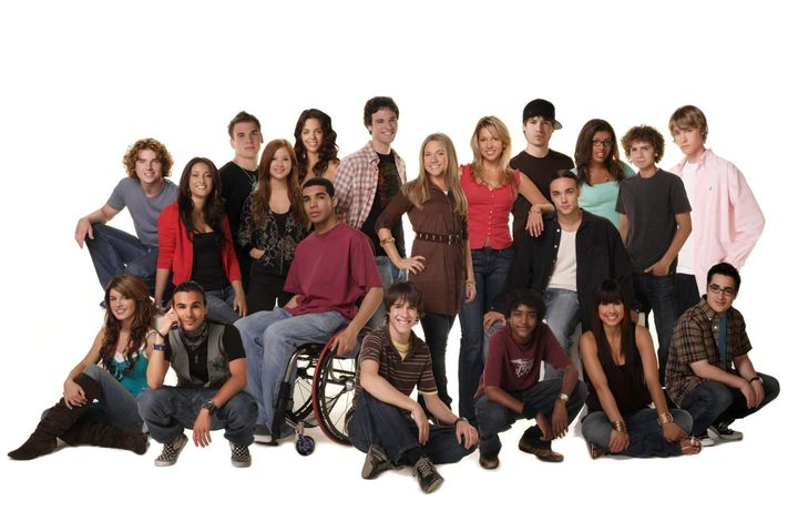 "The cast of ""Degrassi: The Next Generation,"" a popular spin-off series that was spawned after Kit Hood and Linda schuyler's original series."