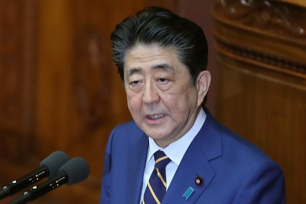 Japanese Prime Minister Shinzo Abe delivers a policy speech in Tokyo, Monday, Jan. 20, 2020. Abe said...