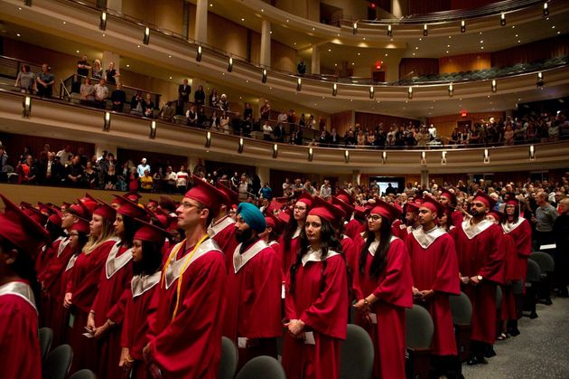 Graduates at MacEwan University are seen in Edmonton in June