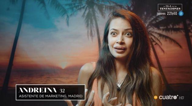 Andreína, concursante de 'La isla de las