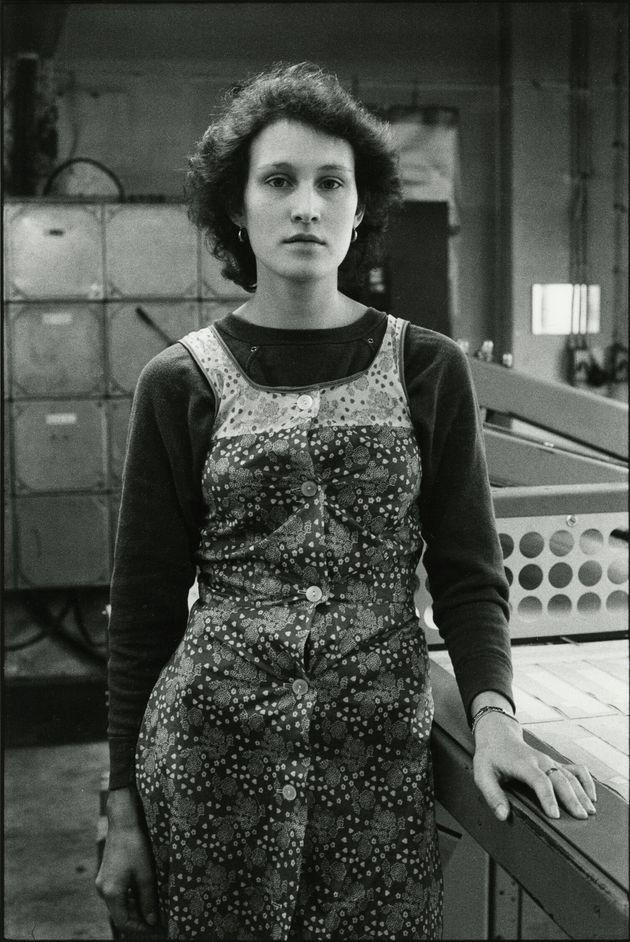 """HELGA PARIS Dalla serie """"Donne nella fabbrica di abbigliamento Treff- Modelle/Women at the Treff-Modelle..."""