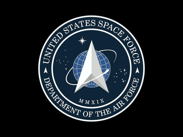 Le logo de l'US SPACE FORCE, dévoilé par le président