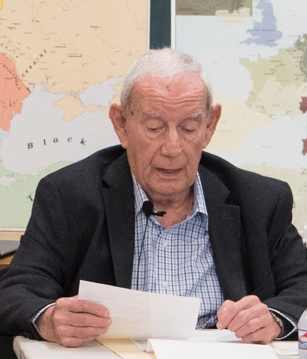Jack Lewin speaks at the Los Angeles Museum of the Holocaust on a recent Holocaust Remembrance