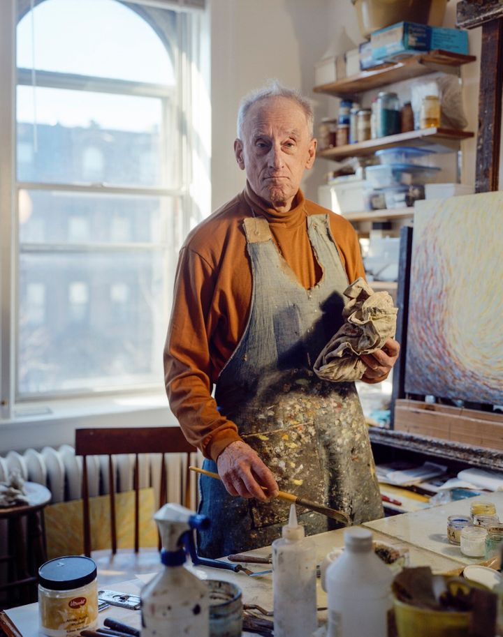 Fred Terna is pictured here in his Brooklyn art studio.