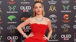 El más que llamativo detalle del 'look' de Ester Expósito ('Élite') en los Premios Goya