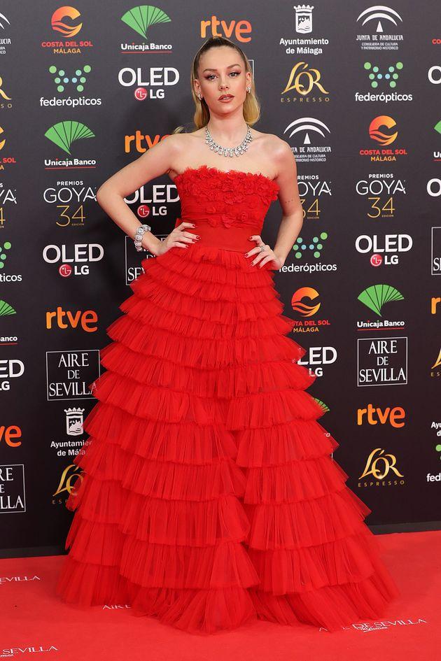 Ester Expósito, en los Premios Goya