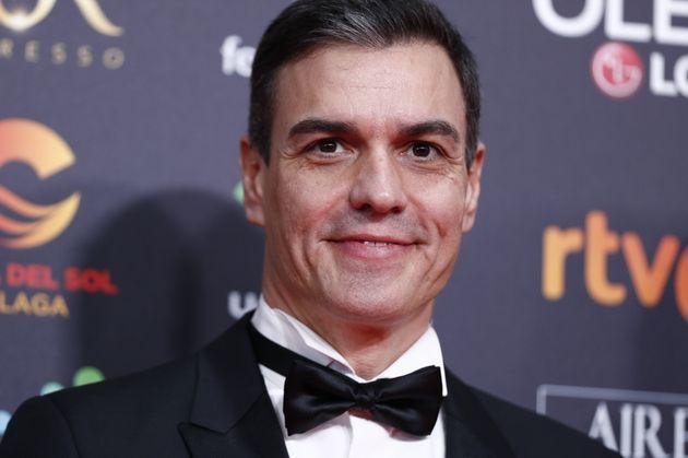 Pedro Sánchez, en los Premios Goya