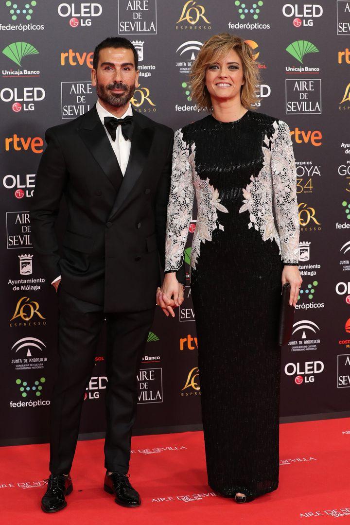 Manuel Zamorano y María Casado en la alfombra roja de los Goya.