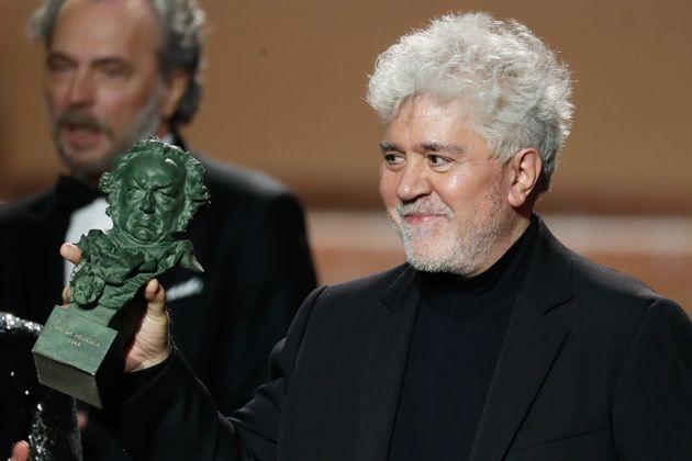 Pedro Almodóvar, director de 'Dolor y Gloria', en los Premios Goya