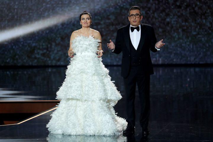 Silvia Abril y Andreu Buenafuente en la gala de los Goya 2020.