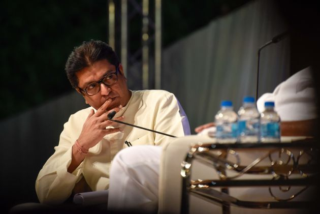 Maharashtra Navnirman Sena (MNS) chief Raj Thackeray interviewing Nationalist Congress Party (NCP) chief...
