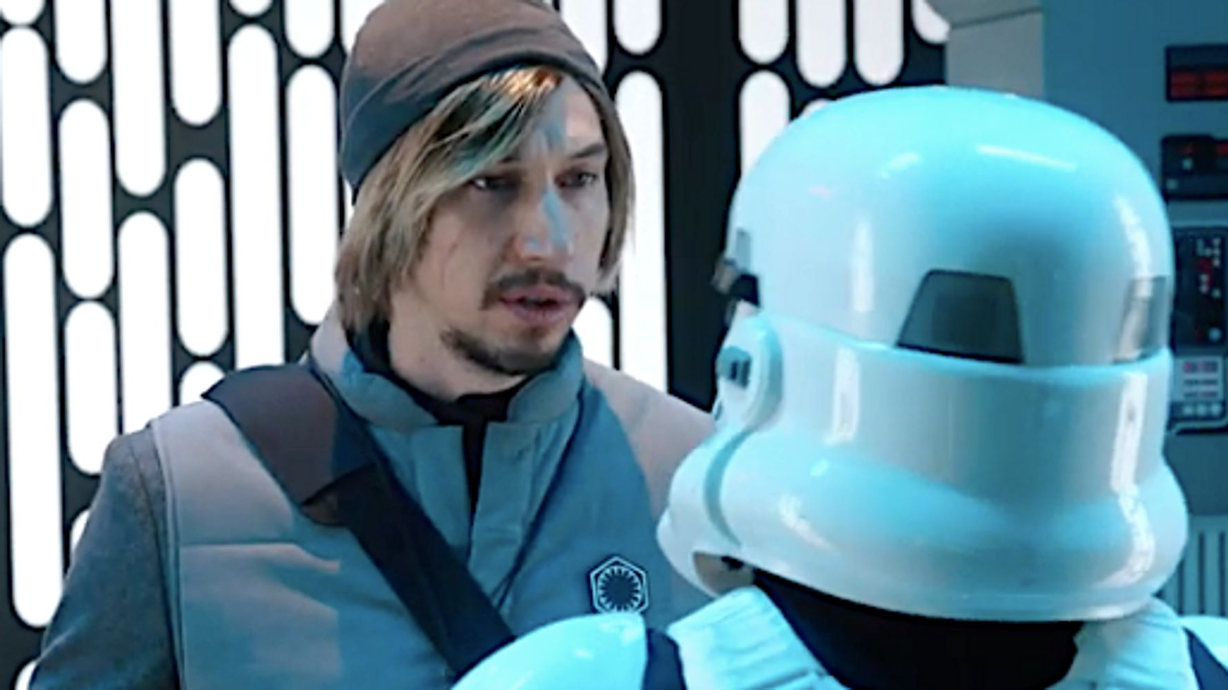 Westlake Legal Group 5e2d43691f00002e008580a6 Adam Driver's Kylo Ren Goes Undercover As Nerdy Intern On 'Saturday Night Live'
