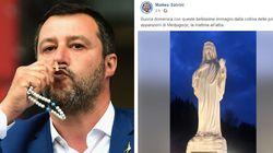 """""""Dalla collina delle apparizioni"""": Salvini inizia in diretta da Medjugorje il giorno clou del"""