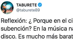 Taburete escribe esta reflexión tras los Goya y todos se fijan en lo mismo: mira bien el