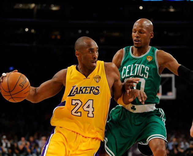 Kobe Bryant, ici lors d'un match NBA entre les Los Angeles Lakers et les Boston Celtics le 17 juin