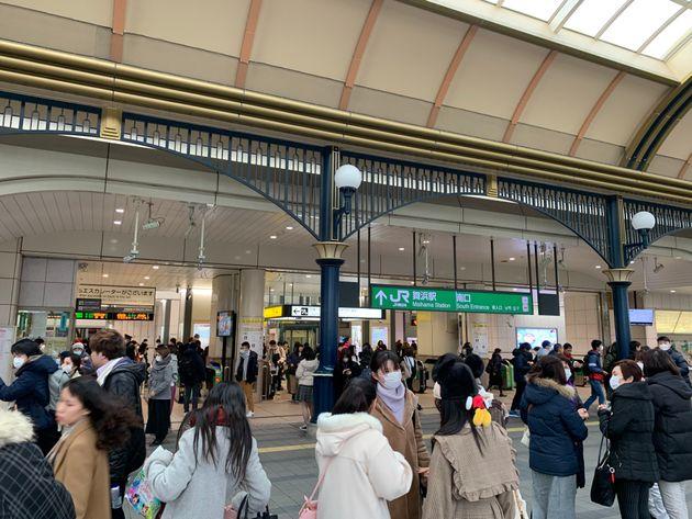 1月27日午前のJR舞浜駅
