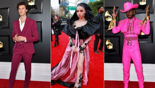 There Was A Whole Lotta Pink On The Grammys Red Carpet This