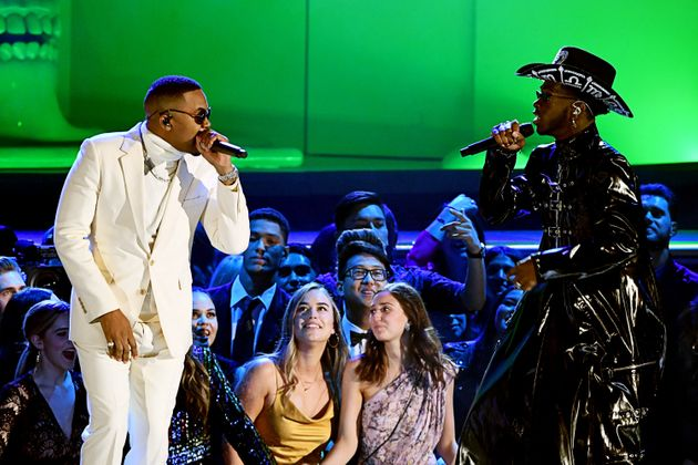 Nas and Lil Nas X perform onstage during the 62nd annual Grammy