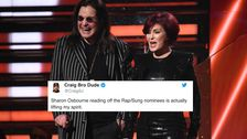 Sharon Osbourne, Προσπαθώντας Να Ανακοινώσει Καλύτερο Ραπ Υποψηφιότητες Στα Βραβεία Grammys Έχει Twitter Σε Δάκρυα