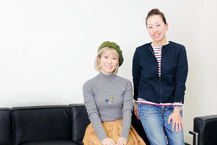 (右から)青山ゆみこさんと姫野桂さん