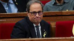 El Parlament encara hoy un pleno con la incógnita de si Torra votará tras su inhabilitación por el