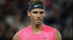Un emocionado Rafa Nadal homenajea a Kobe Bryant después de ganar su partido en