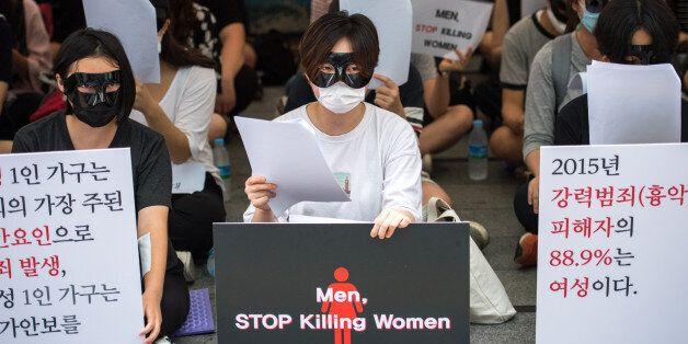 78세 여성이 '강남역 10번 출구 시위'에서 한 말(화보,