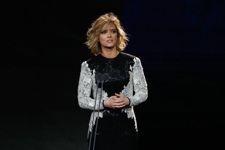 María Casado durante su intervención en la gala de los Goya.